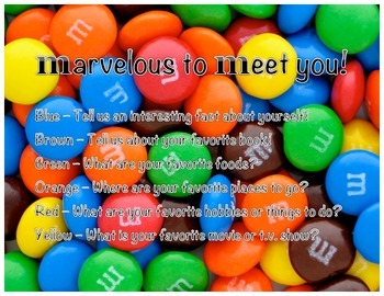 Get To Know You M&M Game