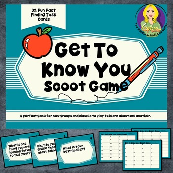 Get To Know You Scoot Game
