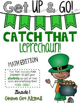 Get Up & Go! Math Activities-Leprechaun Themed