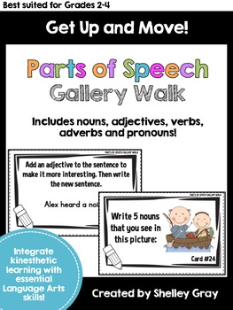 Get Up and Move! {A Parts of Speech Gallery Walk}