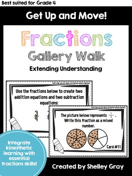 Get Up and Move! {An Extending Understanding Fractions Gal