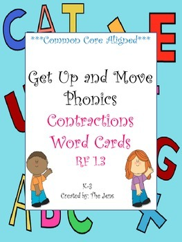 Get Up and Move Phonics ***Contractions*** NOW WITH FREE ACTIVITY