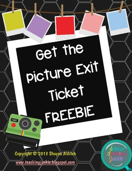 Get the Picture Exit Ticket FREEBIE