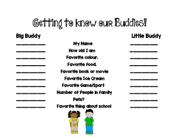 Get to Know Your Buddy