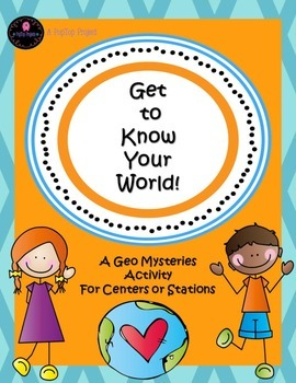 NO PREP! Get to Know Your World!--A Geography Mystery Cent