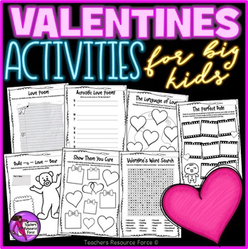 Valentine's Day Activities for big kids