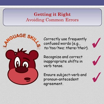 'Getting It Right' - Avoiding Common Errors