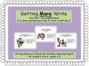 Writing Responses for the Wonders Reading Program, Unit four.