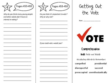 Getting Out the Vote Trifold - Treasures 5th Grade Unit 4