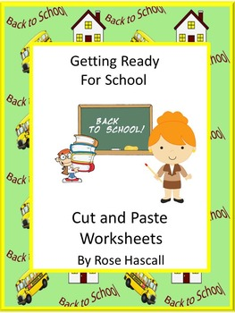 Alphabet Cut and Paste NO PREP Math & Literacy Printables