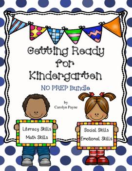 Summer Packet Getting Ready for Kindergarten