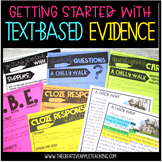 Getting Started with Text Based Evidence: Literary