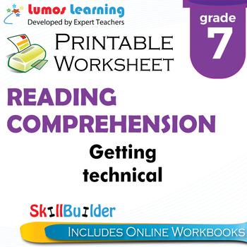 Getting Technical Printable Worksheet, Grade 7