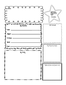 Getting To Know Me Poster-5th Grade