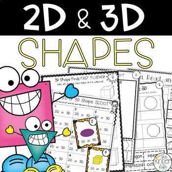Getting in Shape with 2D and 3D Shapes: 7 Print and Go Activities