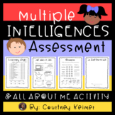 All About Me Student Activity - Multiple Intelligences Assessment