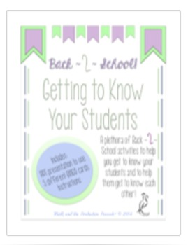Getting to Know Students: Introduction Bingo