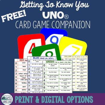 Getting to Know You Adapted Uno Companion