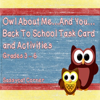 All About Me...and You  - Back to School Icebreaker Task Cards