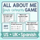 All About Me - Four Corners Game