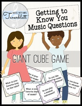 Getting to Know You Music Cube Game