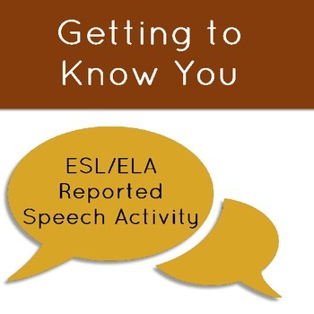 Getting to Know You, Reported Speech Style: A Class Interv