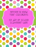 Getting to Know You {Scavenger Hunt}