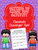 Getting to Know You Classmate Scavenger Hunt