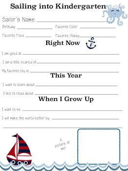 Getting to Know You Sheets - Nautical Theme