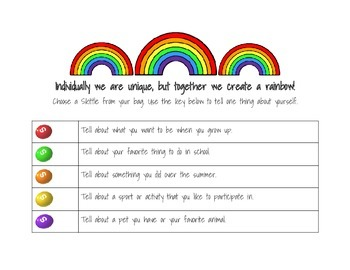 Getting to Know You Skittles Activity