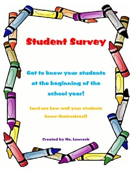 Getting to Know You--Student Survey
