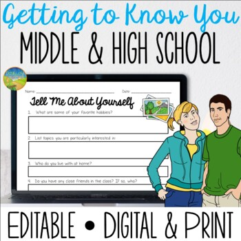 Getting to Know You for Middle and High School Kids