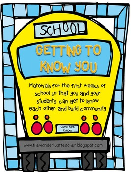 Getting to Know You- introductory activities for the begin
