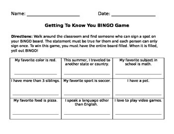 Getting to Know Your BINGO Game