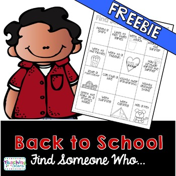 Back to School: Find Someone Who... Getting to Know Your Class