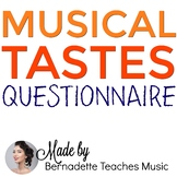 Getting to Know Your Musical Tastes! Questionnaire for Students