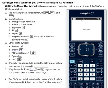 Getting to Know Your TI-NSpire CX - 2015 version