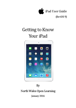 Getting to Know Your iPad (iOS 9)
