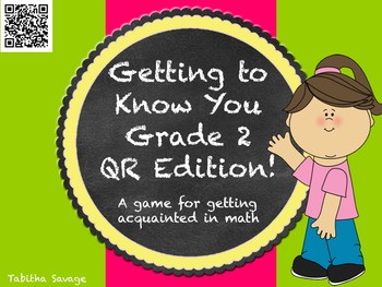Getting to know you- A back to school activity for  math c