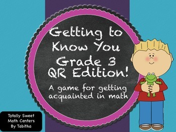 Getting to know you- A back to school activity for math cl