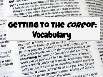 Vocabulary Skills Pack- Differentiated Levels for the Comm