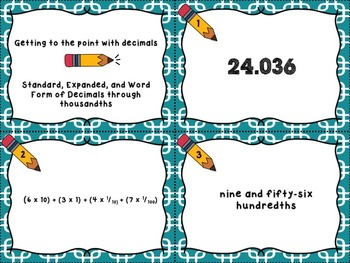 Getting to the point with decimals - Standard, Expanded, a