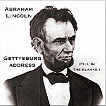 Gettysburg Address mp3 - Abraham Lincoln - Fill in the bla