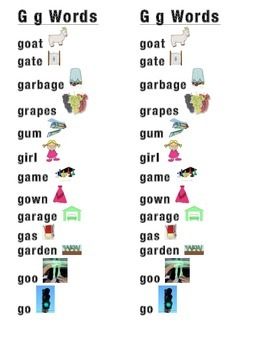 Gg Word Picture Sentence Helpers