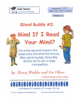 Ghost Buddy 2: Mind if I Read Your Mind: Novel Study for G