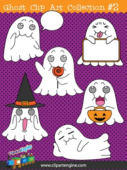 Ghost Clip Art Collection Part 2