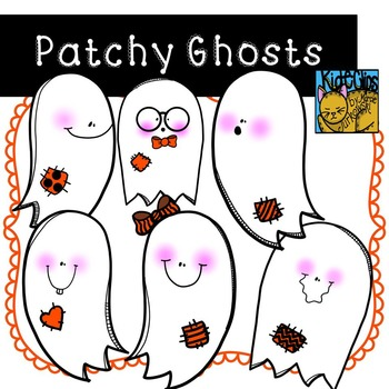 Ghost Clip Art for Fall or Halloween Theme by Kid-E-Clips