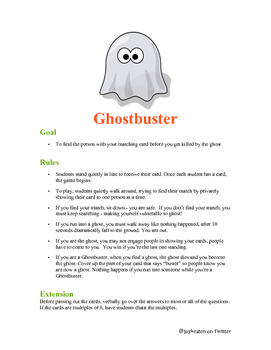 Ghostbusters Math Game - 4th grade