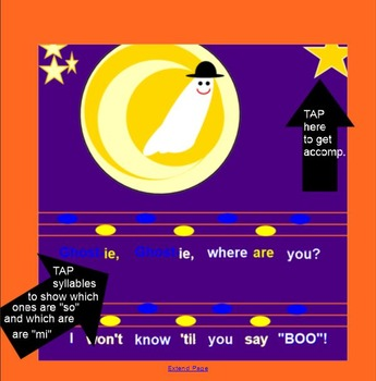 Ghostie, Ghostie - Halloween song- (melodic line, ta, titi