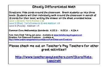 Ghostly - Differenitated Math - Write Around The Room